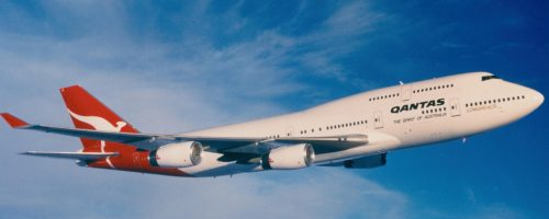 In 1989, the London–Sydney delivery flight of the first Qantas 747-400 variant (VH-OJA) set a non-stop world record for a commercial aircraft, travelling 18,000km in just over 20 hours.-min
